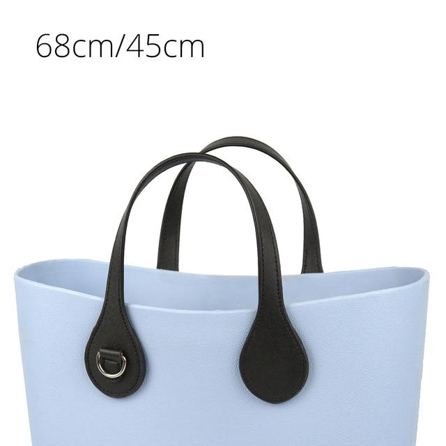 Tanqu Asas largas y cortas para bolso O con borde pintado, hebilla en D, manijas de piel sintética con punta en forma de lágrima redonda, para OBag, piezas para bolsos de cinturón