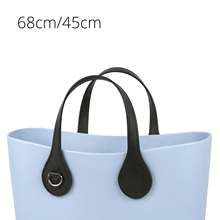 Tanqu Short Long Handle for O Bagwith Edge Painting D Buckle Round Teardrop End Faux Leather Handles for OBag Belt Handbag Parts