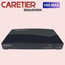 SOLOVOX receptor de TV satélite V8S MAX, 2USB, compatible con clave Biss, WEB TV de cine en casa, compatible con CCAM, YOUTUBE, YOUPORN, DLAN, H.256, T2 MI