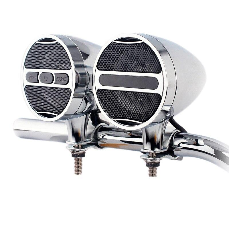 FULL-12V мотоцикл Mp3 Bluetooth аудио полностью металлический Автомобильный руль Аудио электрический автомобиль водонепроницаемый рожок плагин рад...