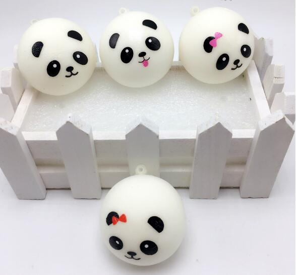 Keychain Kids Ball Decompression-Toys Panda Bun Stress Reliever Squishy Slow Rising PU img4