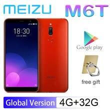 Smartphone 98% nova meizu m6t 4g 32g 5.7 rear tela cheia câmera traseira dupla versão global mt6750 super mback ingerprint pagamento