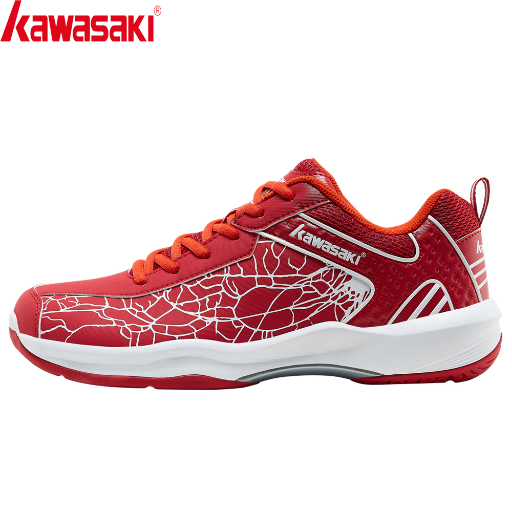 Kawasaki 2020 Badminton Shoes Breathable Anti-Slippery Sport Red Shoes For Men Women Zapatillas Sneaker K-081L