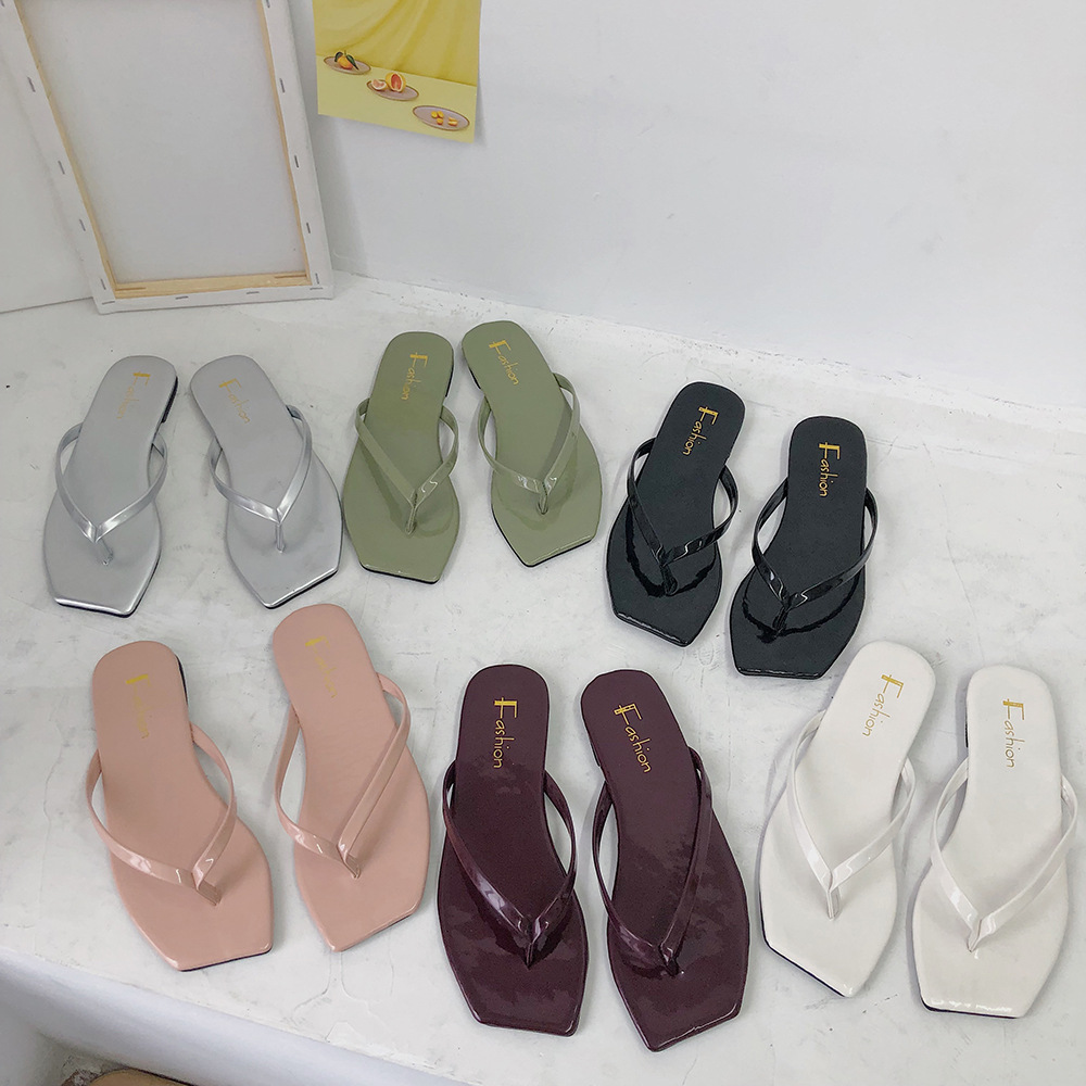 Women Shoes Slippers 2020 New Flip Flops Herringbone Slippers For Women Wear Comfortable Summer Korean Slippers
