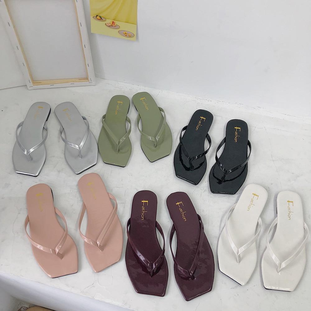 Women Shoes Slippers 2020 New Flip Flops Herringbone Slippers For Women Wear Comfortable Summer Korean Slippers