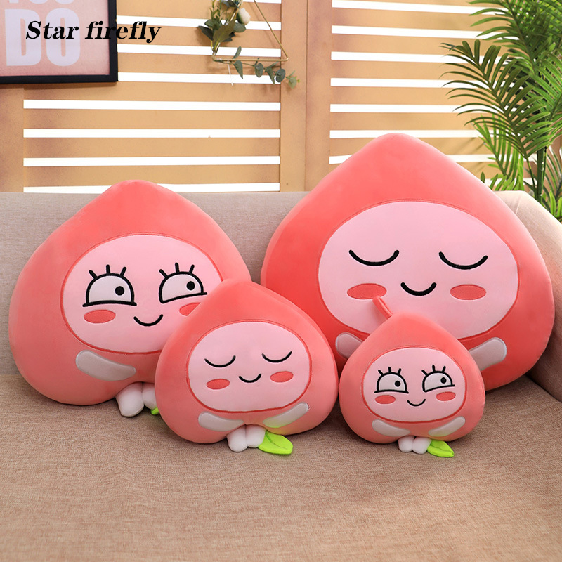 Cute Little Fart Peach Plush Toy New Creative Expression Fart Peach Stuffed Plush Toy Peach Pillow Home Sofa Bedroom Decoration