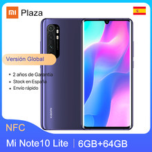 "Version mondiale Xiaomi Mi Note 10 Lite 6GB 64GB Smartphone NFC Snapdragon 730G 6.47 ""AMOLED affichage 64MP caméra 5260mAh 30W FC()"