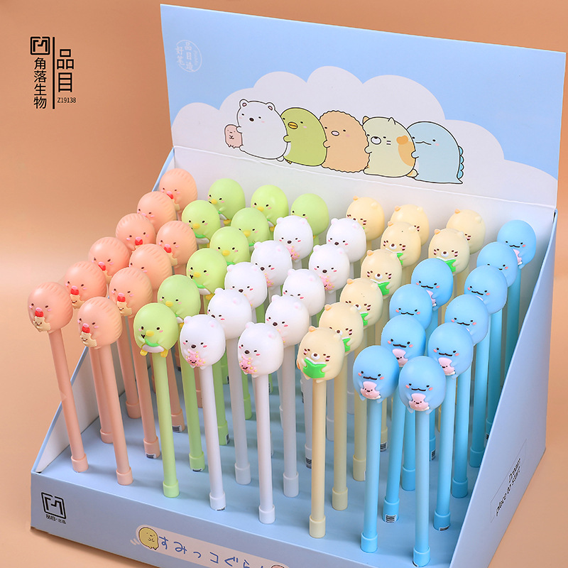 0.5mm Pink Green Blue Color Sumikko Gurashi Gel Pen Black Ink Pen Promotional Gift Stationery School & Office Supply