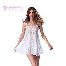 Sexy Lingerie Hot Exotic Sheer Sleepwear Lace Nightwear Babydoll Dress Pajamas  Underwear Apparel