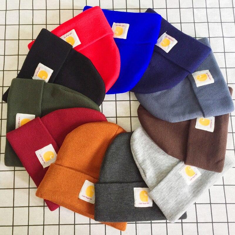 Winter Women's Hat Knit Hat For Men Cap Letter Pattern Simple Solid Color Hats Warm Skullies Beanie Hat Wholesale High Quality