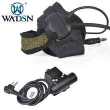 WADSN zSelex TASC1 Softair Headsets Peltor Earphone Military Headphone+Push To Talk U94 Tactical PTT Kenwood Adapter WZ182(China)