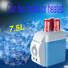 Car refrigeration and heating dual-purpose refrigerator, portable heating and cooling box, mini refrigerator, car 7.5L car 7 5l 4 l car refrigerator mini home dual heating and cosmetic breast insulin refrigerated box