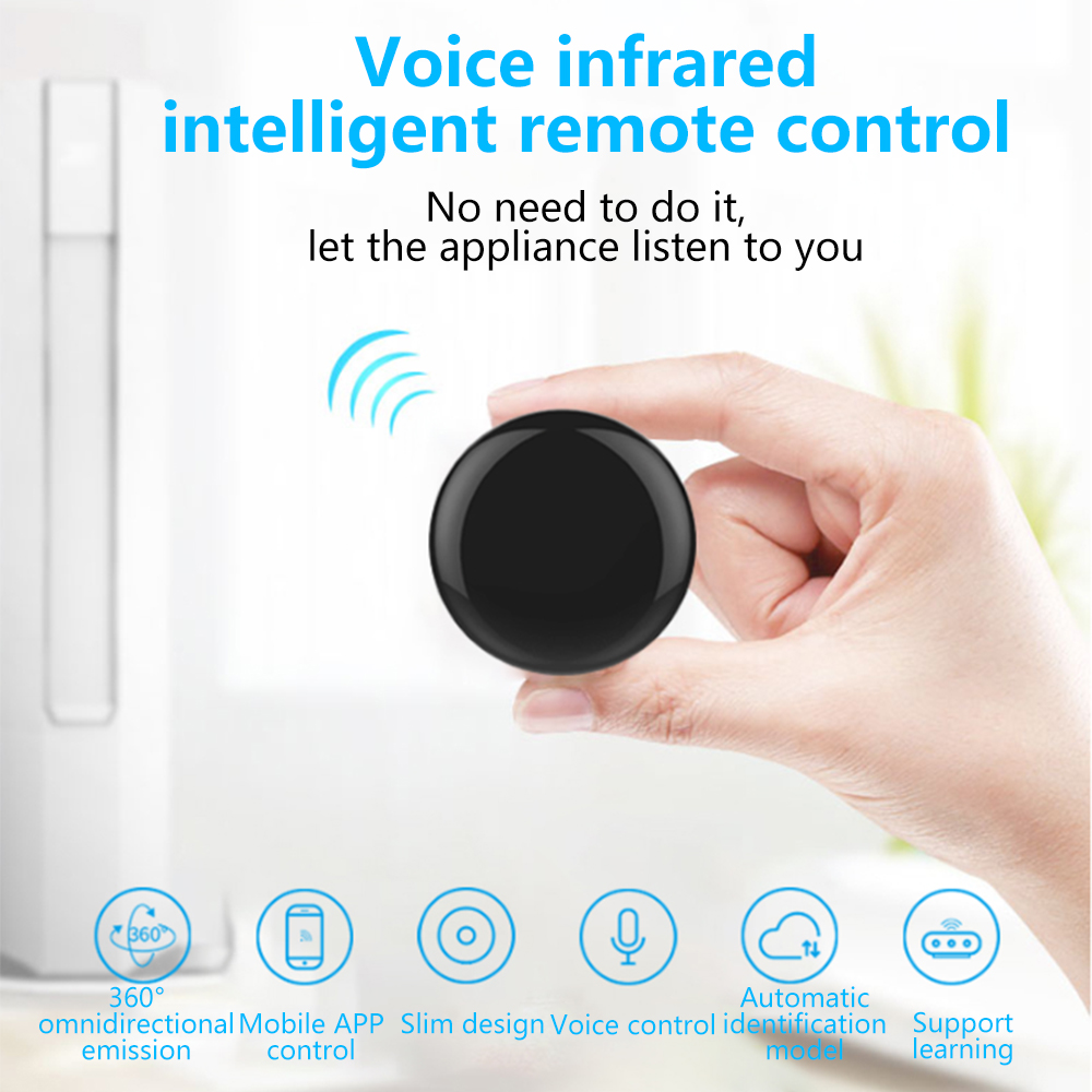Tuya Smart Home Remote Controller IR Infrared Wireless Universal Voice Control TV Air Conditioning APP Control Google Home 14m