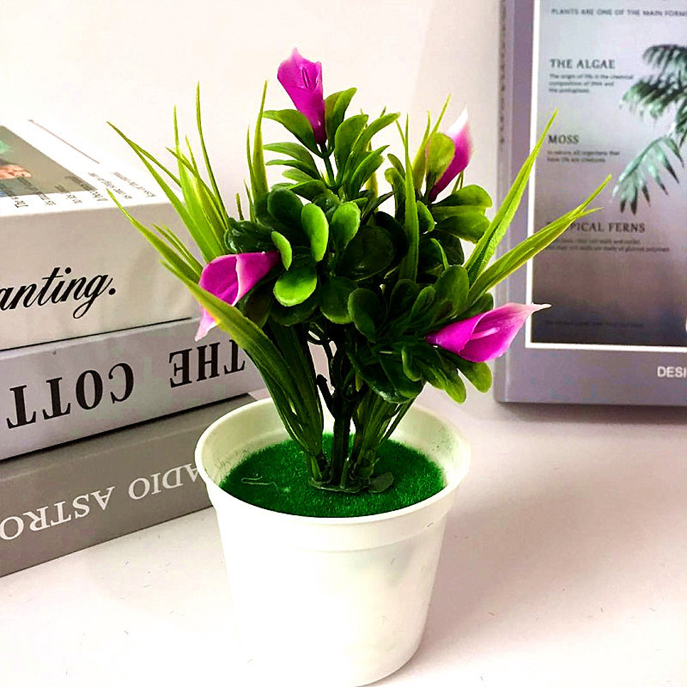 Artificial Long Lasting Party Garden Desktop Potted Plant Colorful