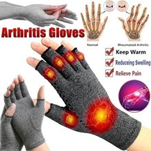 1 Pair Compression Arthritis Gloves Wrist Support Cotton Joint Pain Relief Hand Brace Women Men Therapy Wristband