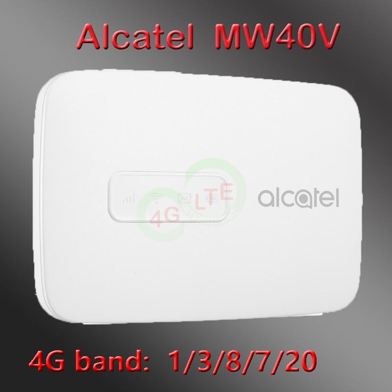 Unlocked Alcatel LinkZone MW40V New LTE Hotspot ALCATEL MW40 Mw40c Router 4g Sim Portable Lte Wifi 4g Router With Sim Card