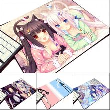 ACG Animation Game Lovely Girls Chocola Nekopara Mouse Pad Hot Anime Games Pattern So Cute Anime Girls Cat Pc Table Mat(China)