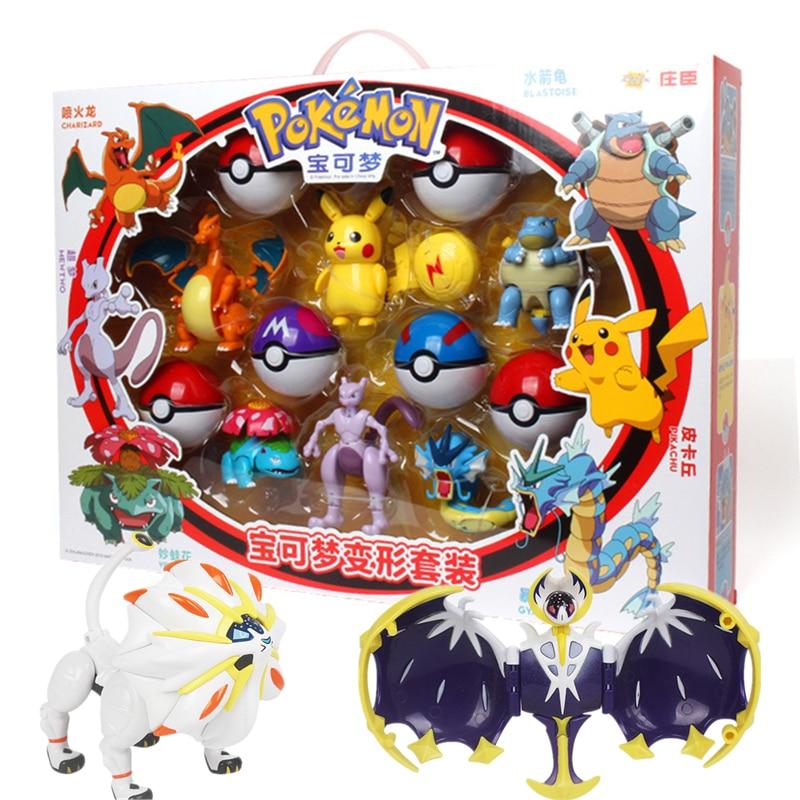 Anime Figure Collect-Toy Ball Pikachu Model-Charmander Pocket Monster Game-Pok Kids Gift