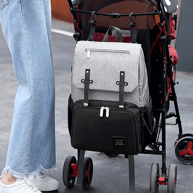Large waterproof baby diaper bag with usb interface backpack changing nursing mommy maternity nappy bag bags for mom stroller