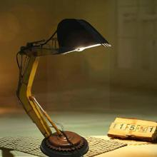 Vintage Industrial Tractor Table Lamp Light Steampunk Fixture Lamp Bar Lighting Decoration Indoor Home Desk Round