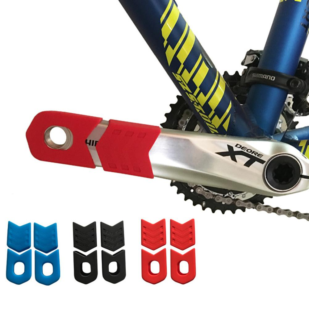 Bike Crank Protector Cover Silica Gel Bicycle Crank Boot Protectors Crankset Protective Cover Bicycle Connecting Rod Protection