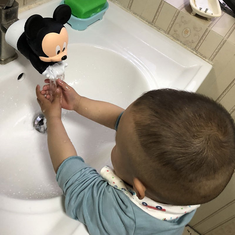 Cartoon Kids Water Tap Faucet Extender Water Saving Silicone Faucet Extension Tool Help Children Washing Hand Cute Decoration