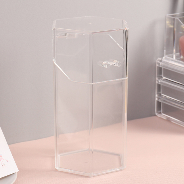 Pearl Clear Acrylic Cosmetic Organizer Makeup Brush Container Storage Box Holder Lipstick Storage Container Pencil Clear Box 1