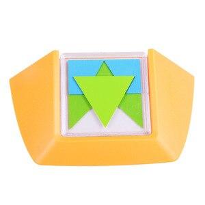 Image 3 - 100 ChallengeรหัสสีปริศนาเกมTangramกระดานจิ๊กซอว์ปริศนาของเล่นเด็กเด็กพัฒนาLogic Spatial Reasoningทักษะของเล่น