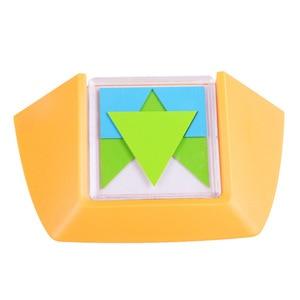 Image 3 - 100 desafio código de cor quebra cabeça jogos tangram quebra cabeça placa brinquedo crianças desenvolver lógica espacial raciocínio habilidades brinquedo