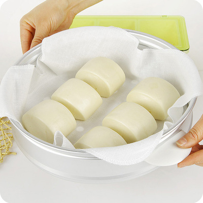 1977 Yarn Steamer Cloth Breathable Food Steamers Cloth Non-stick Pot Filter Gauze Steamed Rice Buns Tray Steamer Cloth
