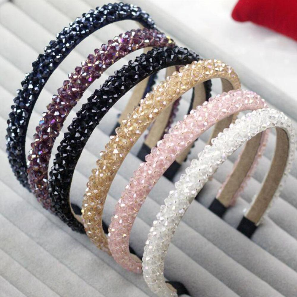 Ladies Rhinestone Pearl Headband Fake Pearl Hairband Wavy Headband Trend Jewelry Ms. Men's Hair Decoration Hair Bundle