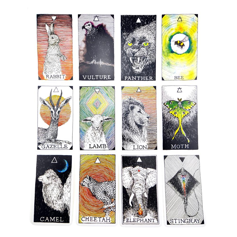 63PCS Animal Spirit Tarot Card English Language Tarot Cards For Party Family Playing Cards Table Deck Board Games Entertainment