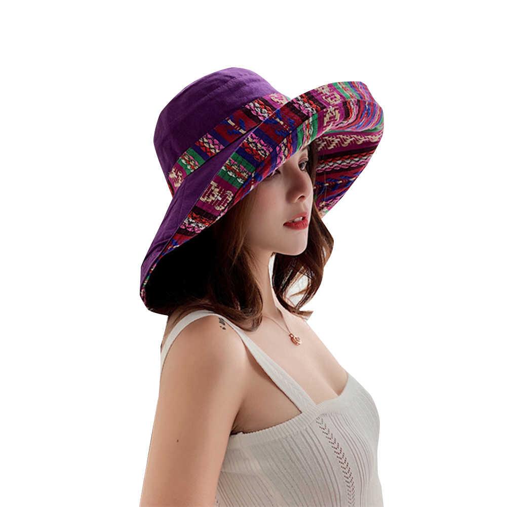 สตรีแฟชั่นกว้าง Brim ฟลอปปี้หมวก Winter WARM Retro ชาติพันธุ์รูปแบบ Fedora หมวกหมวกปีกกว้างฟลอปปี้หมวกสำหรับผู้หญิงฤดูหนาว WARM