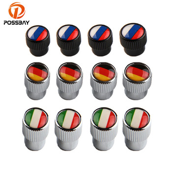 POSSBAY Car Accessories Car Wheel Tires Valve Caps Auto Motorcycle Airtight Stem Air Caps for VW Peugeot Kia Honda Toyota image