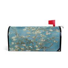 Чехол для почтового ящика Van Gogh Bloom с УФ-защитой, магнитный, стандартный размер, весенняя, водонепроницаемая