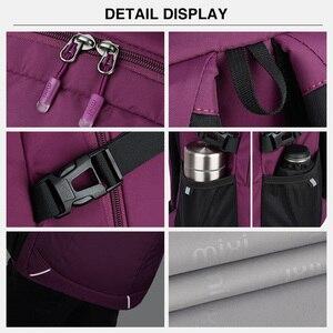 Image 5 - Mixi Women Backpack Men Travel Shoulder Bag Laptop Backpack Boys Girls Student Book Bag Waterproof Black Purple 18 Inch M5160