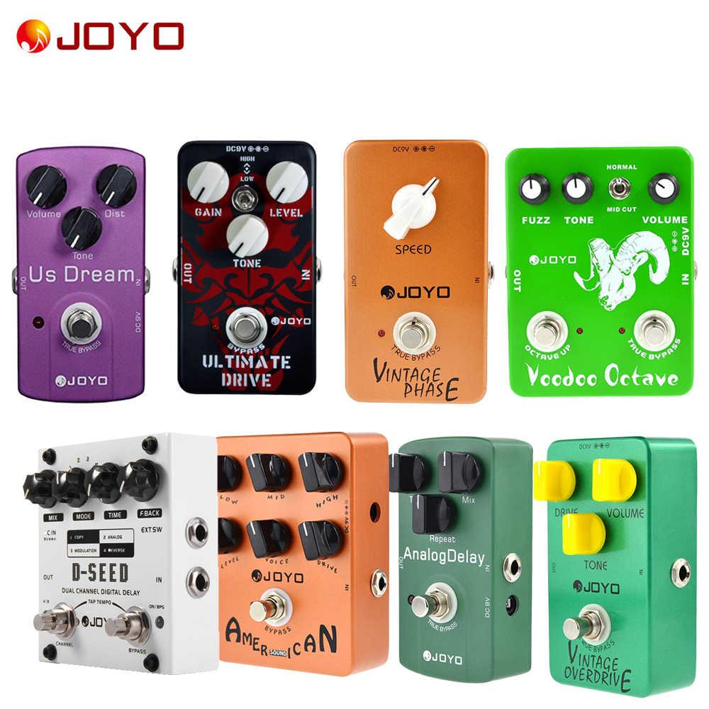 JOYO Gitar Pedal Digital Delay Analog Delay Tahap Distorsi Voodoo Oktaf Bulu Vintage/Ultimate Drive Overdrive Amp Simulator