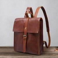 Women Backpack Genuine Leather Shoulder Bag Full Grain Leather Travel Backpacks Women Leather School Backpack