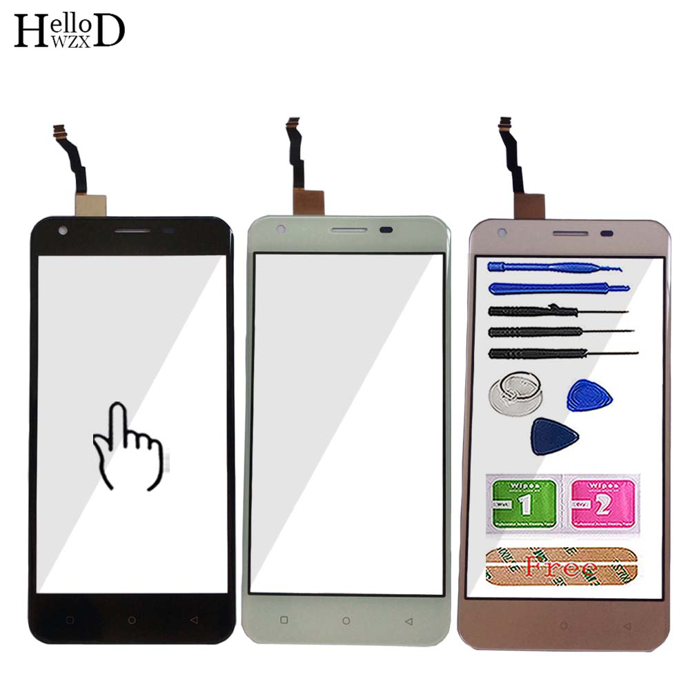 Mobile Touch Screen For Oukitel C6 Touch Panel Front Glass Digitizer Lens Sensor 3M Glue Tools