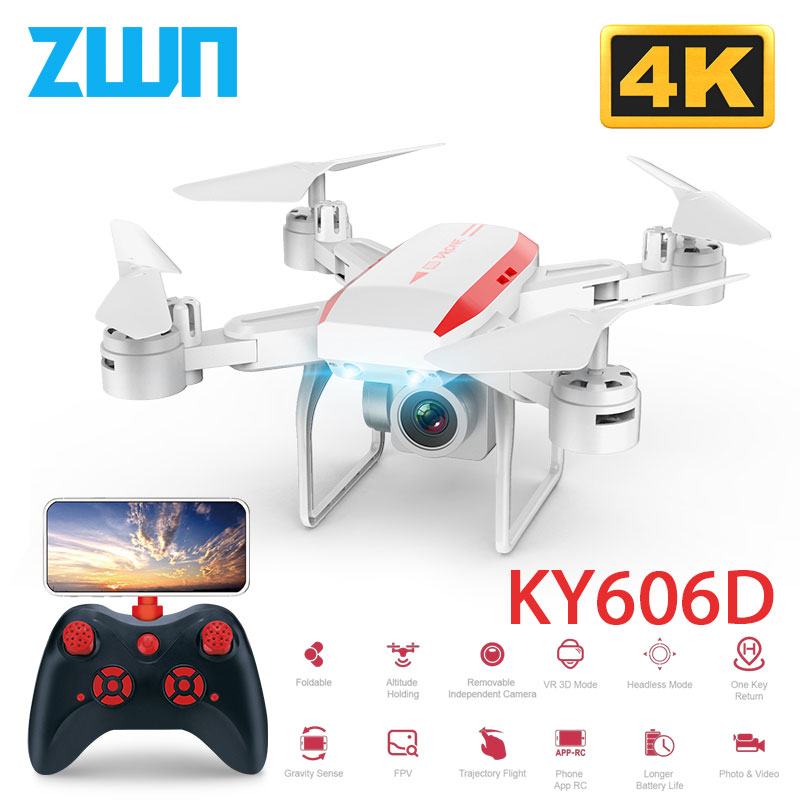 KY606D Drone With FPV WIFI 480P 1080P 4K HD Dual Camera Or No Camera Quadcopter 20mins Flight Time Mini Drone VS SG106 E58 Dron