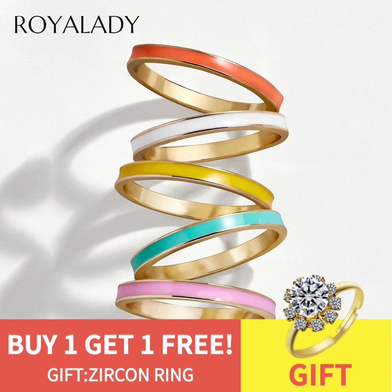 Simple Candy Color Oil Drip Ring For Women Men 2019 Concise Fashion Multicolor Statement Ring Female Jewelry Gift Wholesale