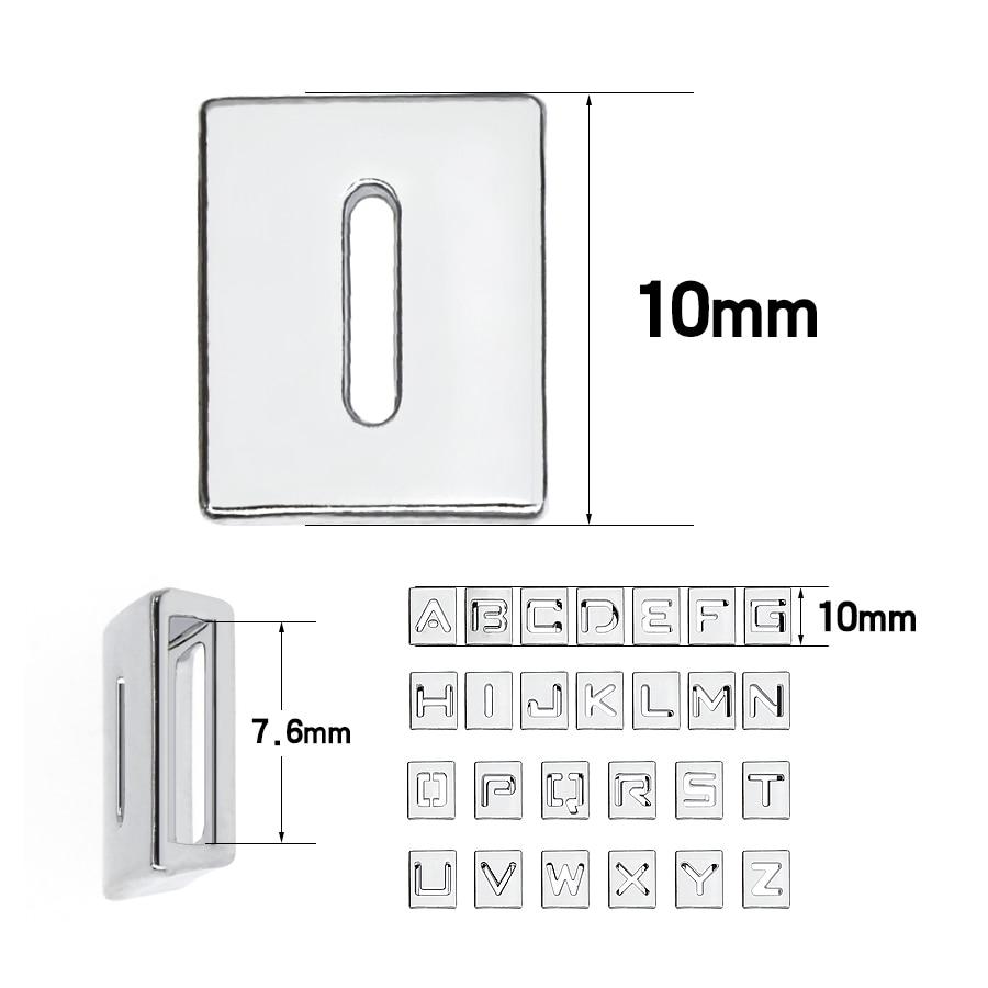 8mm-铬色方形镂空字母-尺寸整体图