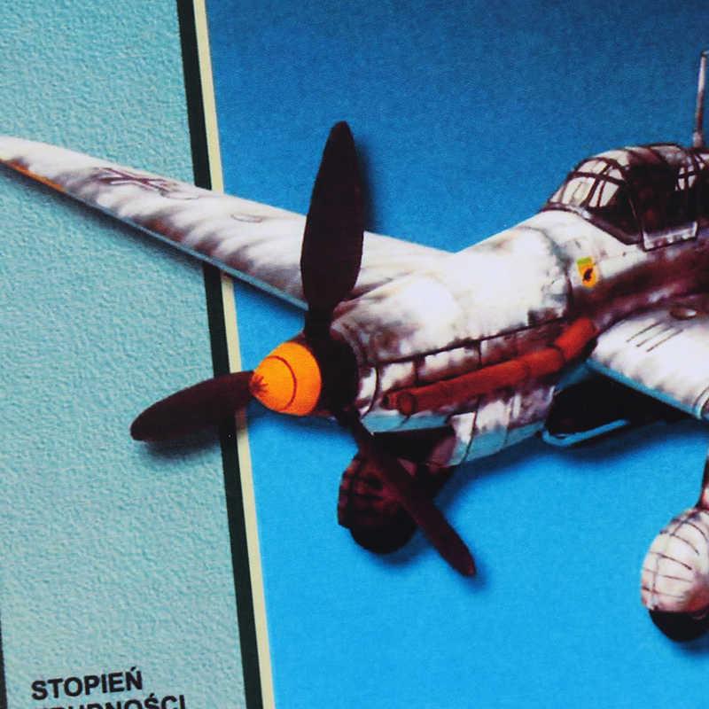 Hot 1:33 niemcy Ju-87 Bomber Model samolotu 3D Model papieru przestrzeń biblioteka Papercraft karton dom dla dzieci zabawki papierowe