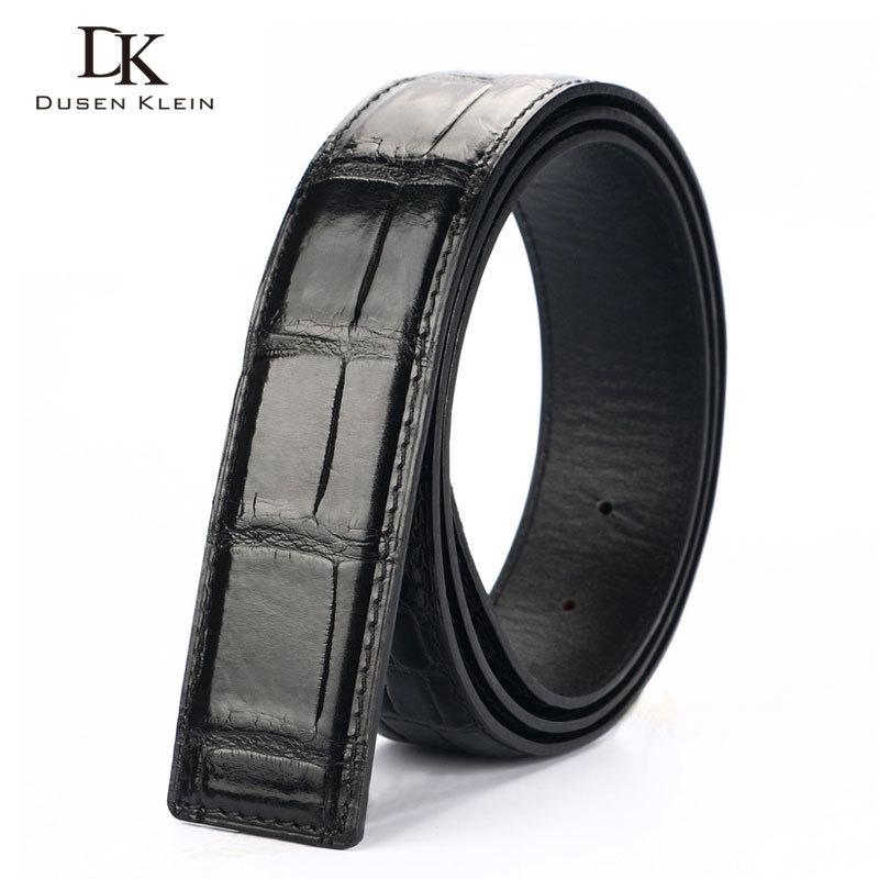 Véritable bracelet en cuir de crocodile pour ceinture Dusen Klein business décontracté en cuir véritable ceinture pour hommes DK R401