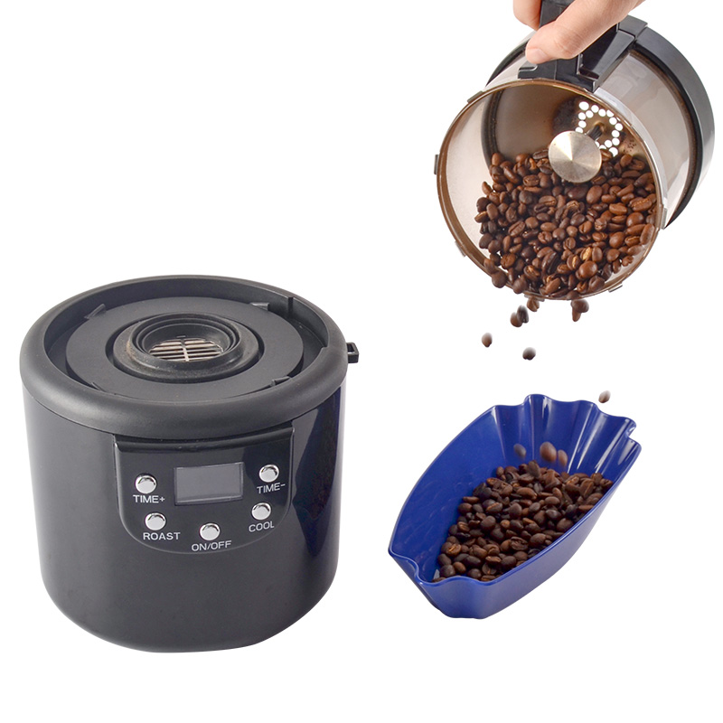 110V-220V Hot Air Coffee Roaster Household Small Bean Roaster Fast Roasting Bean Machine Raw Bean Roaster Coffee Appliance 1400W