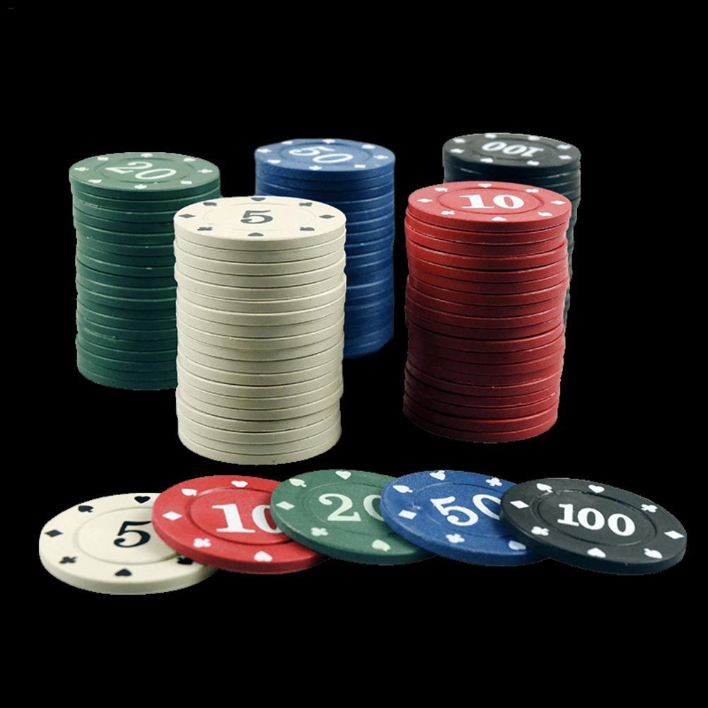 100/160 Pcs Texas Poker Chips Professional Casino Pokerstars European Poker Tour Poker Chips Set Digital Chips Blackjack 4