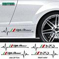 Наклейка на кузов автомобиля Alfa Romeo 159 147 Giulietta Stelvio 4C MITO 156 Giulia Sportiva, 2 шт., автомобильные аксессуары