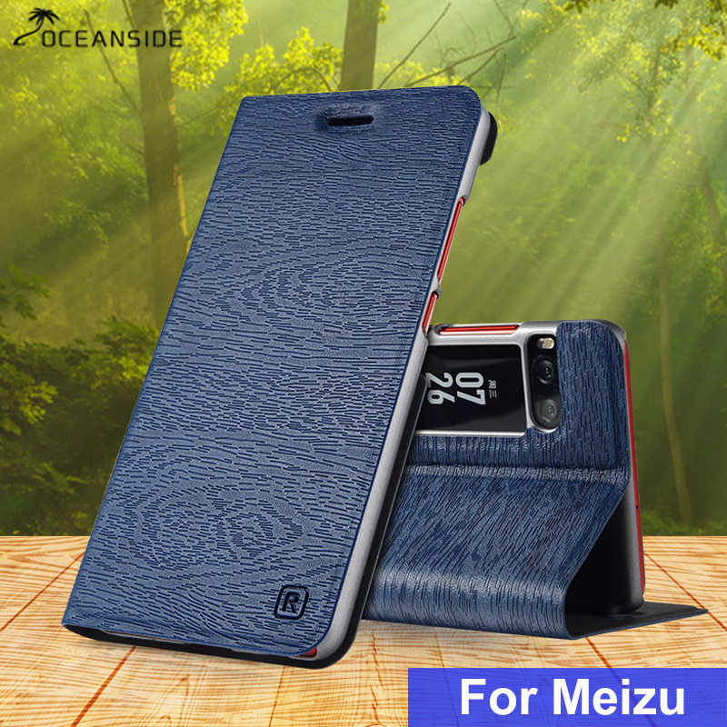 For Meizu Pro 7 Plus PU flip leather case On Meilan Pro7 7+ Pro7 plus flip cover luxury card Fundas Slot Stand Case