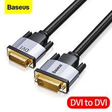 Baseus DVI DVI kablosu çift bağlantı DVI D erkek erkek DVI D 24 + 1 Video kablosu için projektör HDTV PC bilgisayar adaptörü DVI tel kordon