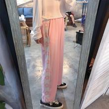 Женские брюки японские Kawaii Harajuku Ulzzang свободные повседневные брюки с принтом Женская Корейская Милая одежда для женщин